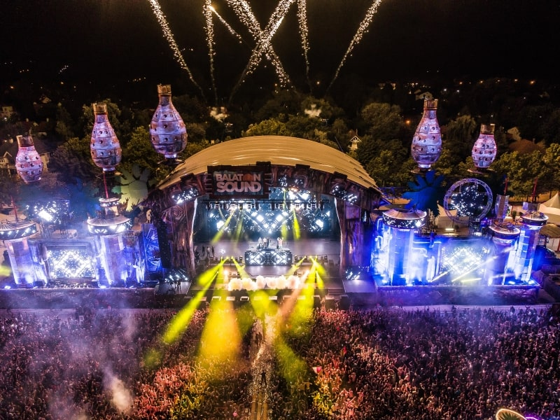 Event agency reference - Balaton Sound main stage 2018