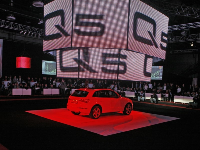 Event equipment rentals reference Audi Q5 show 2011