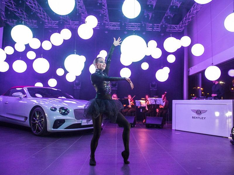 Bentley salon opening event rental